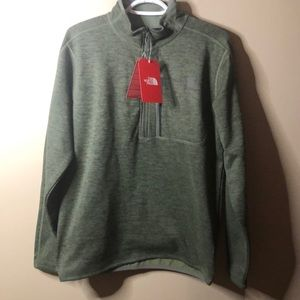 The north face green fleece pullover